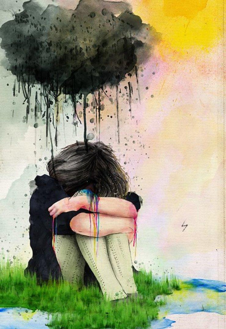 даже рисунки про одиночество красками снимки