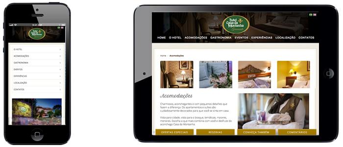 Design Responsivo - Celular e Tablet